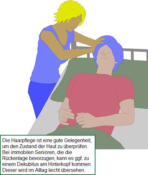 Haarpflege im bett